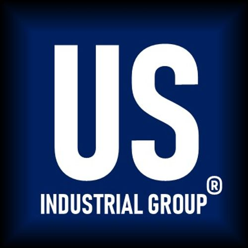 US Industrial Group®, LLC Logo Image (White Letters in Dark Blue and Black Background).