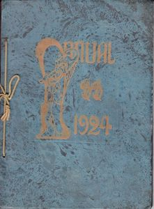 Cover of the 1924 Shortridge School Annual