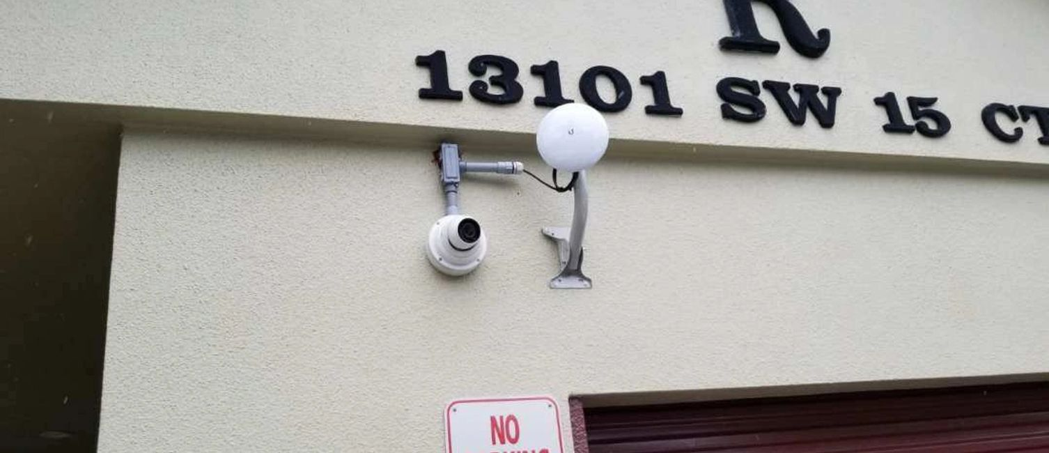 Security Camera in Pembroke Pines entury Village.  Hikvision Camera Turret with night vision.