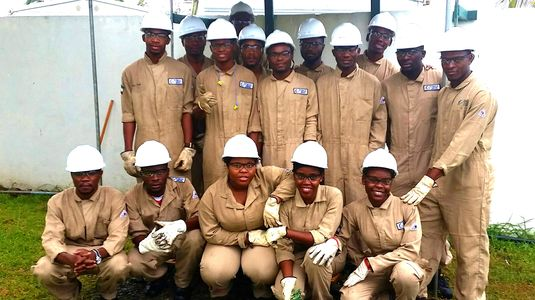 Some Students from the ITNHGE training program in Equatorial Guinea, Africa
