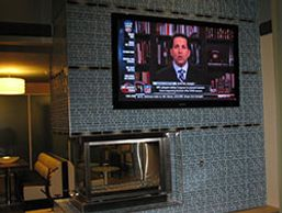 Fireplace TV installation and mounting
