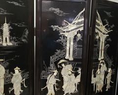 Japanese Mother of Pearl 4-Panel Screen, Vintage Collection