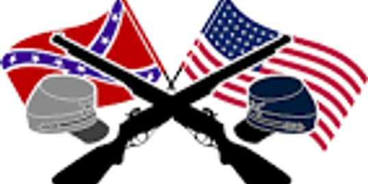 CROSSED FLAGS AND RIFLES