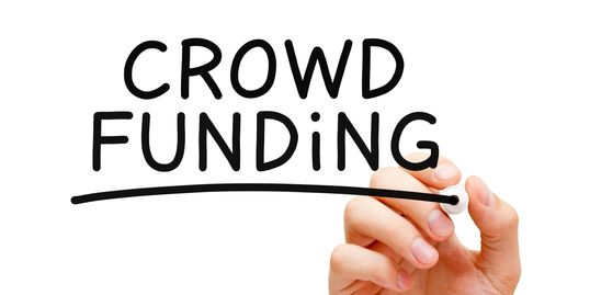 Crowdfunding image to raise capital for investment in businesses