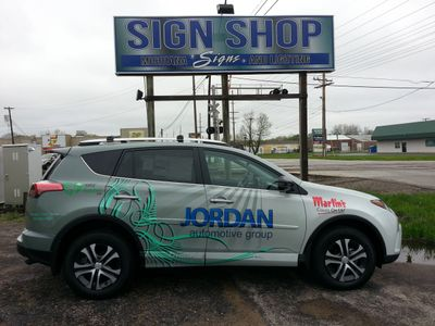Michiana Signd and Lighting Wrapped a car for Jordan Ford in Mishawaka IN.