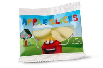 Apple slices at McDonald's. Delivered Fitness Personal Trainer.