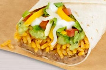 7 layer burrito at taco Bell. Delivered Fitness Personal trainer.