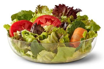 Side Salad at McDonald's. Delivered Fitness Personal Trainer.