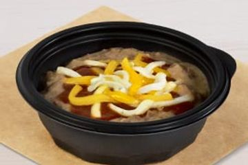 Pinto beans and cheese at taco Bell. Delivered Fitness Personal trainer