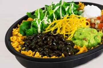 Veggie Power menu bowl taco Bell. Delivered Fitness Personal trainer.