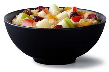 Fruit & Maple Oatmeal at McDonald's. Delivered Fitness Personal Trainer Fast Food Options.