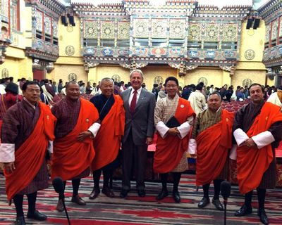 With cabinet ministers in Bhutan