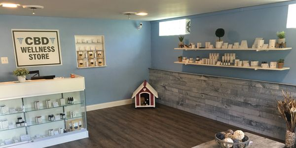 Inside of the CBD Wellness Store in Bethel Park PA