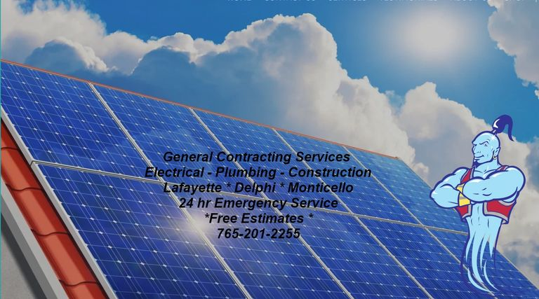 Genie Construction Services - Your plumbing service electrical service company.  Solar, LED