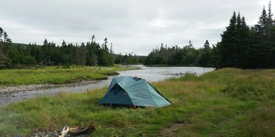 salmon trout camping eco-angling eco-adventure fly fishing  st. john's Newfoundland