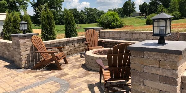 Paver Patio for outdoor living.