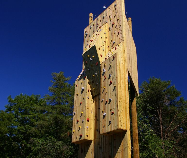 Climbing Tower at Loyola University in Illinois.