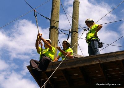 ESI offers challenge course certification for staff of adventure parks, camps and park districts.