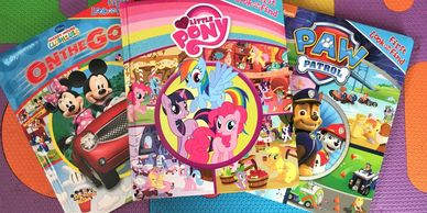 Look and Find My Little Pony, Paw Patrol and Mickey Mouse books