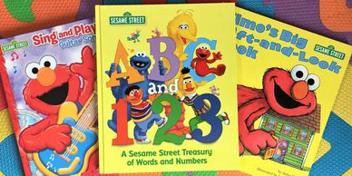 Sesame Street books encourage reading.
