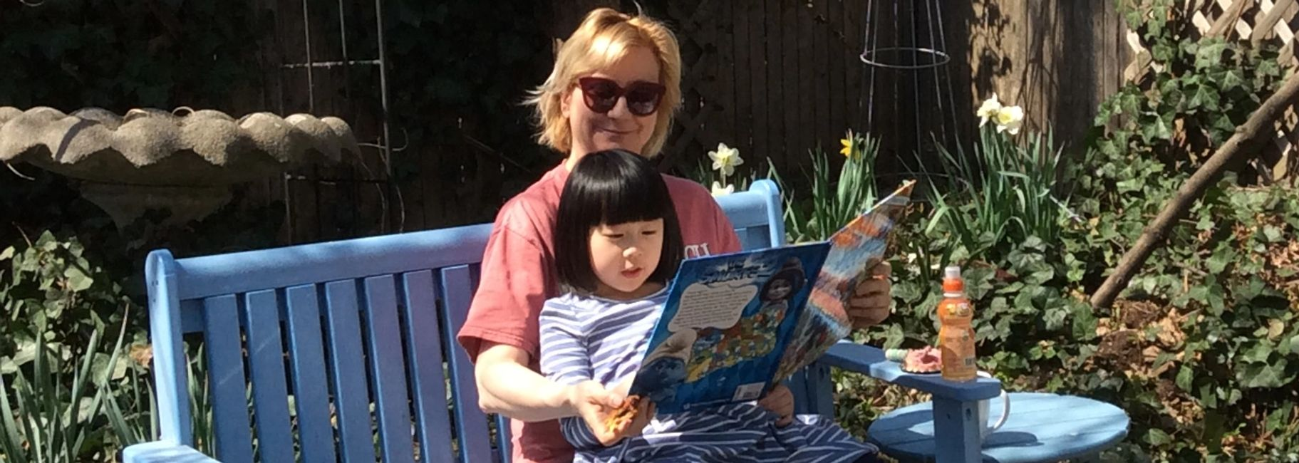 CDO Lisa Faith Phillips loves to read with Esther Lin