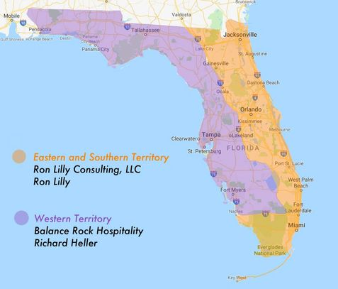 Territory map of Florida
