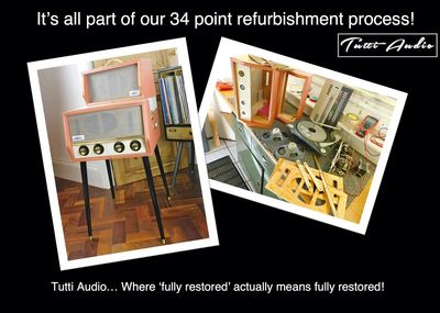 Dansette record player restoration refurbishment and repairs. Dansette Stereophonic A35