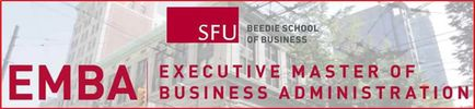 SFU Beedie School of Business Executive Master of Business Administration (EMBA)