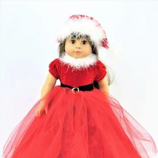 Fits American Girl Doll Clothes Santa and Christmas