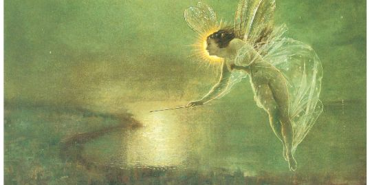 Image of John Grimshaw's fairy painting, Spirit of the Night - 1879
