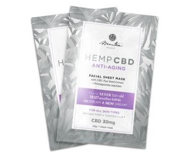 anti aging cbd facial sheet mask for at home beauty and self care