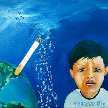 Jibin George, Artist, Protect Kids from Tobacco, World no tobacco day, Jibin George artist, Jibin