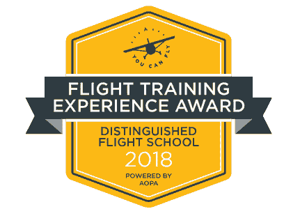 2018 Flight Training Experience Award presented by the Aircraft Owners and Pilots Association (AOPA)