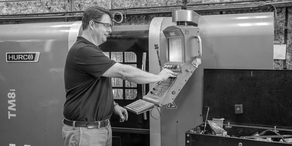 Programming the Hurco TM8i CNC lathe at our Nacogdoches, TX machine shop and production facility