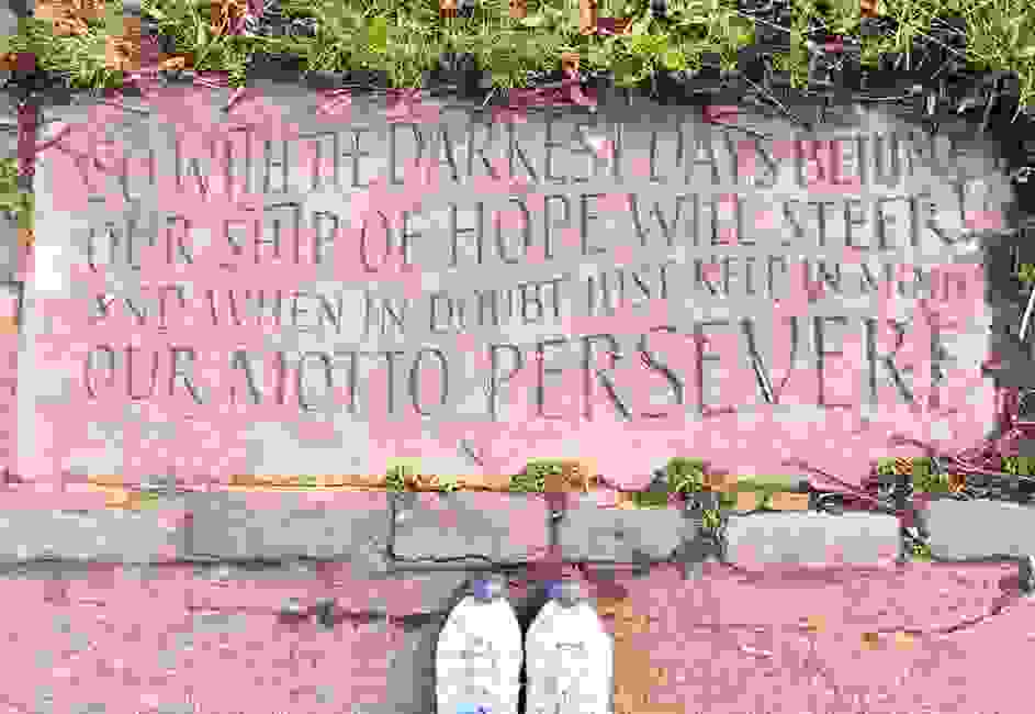"The motto for Leith is ""Persevere"". As I settled into a new life in Scotland, this kept me going"