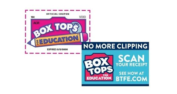 Image that shows logos for both the new and old Box Tops for Education programs.