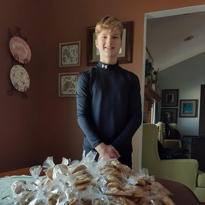 Bake the world a better place!  Cookies for Crossroads Animal Hospital Open House bake sale.