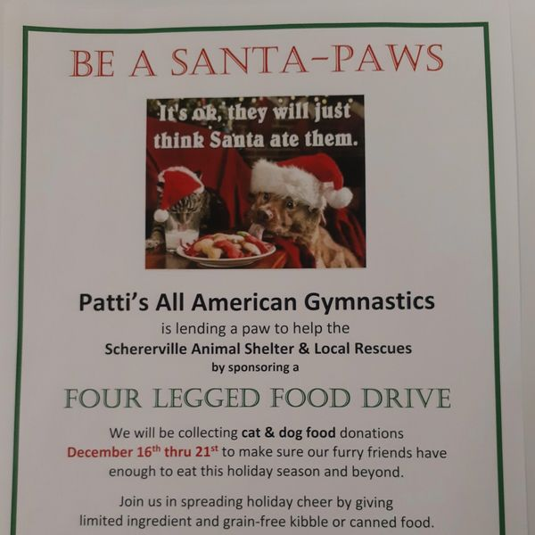 Tis' the season of giving, please help if you are able by donating to the Four Legged Food Drive.