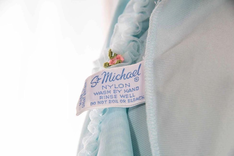 St Michael label dating guide - find out the age of vintage Marks & Spencer clothing.