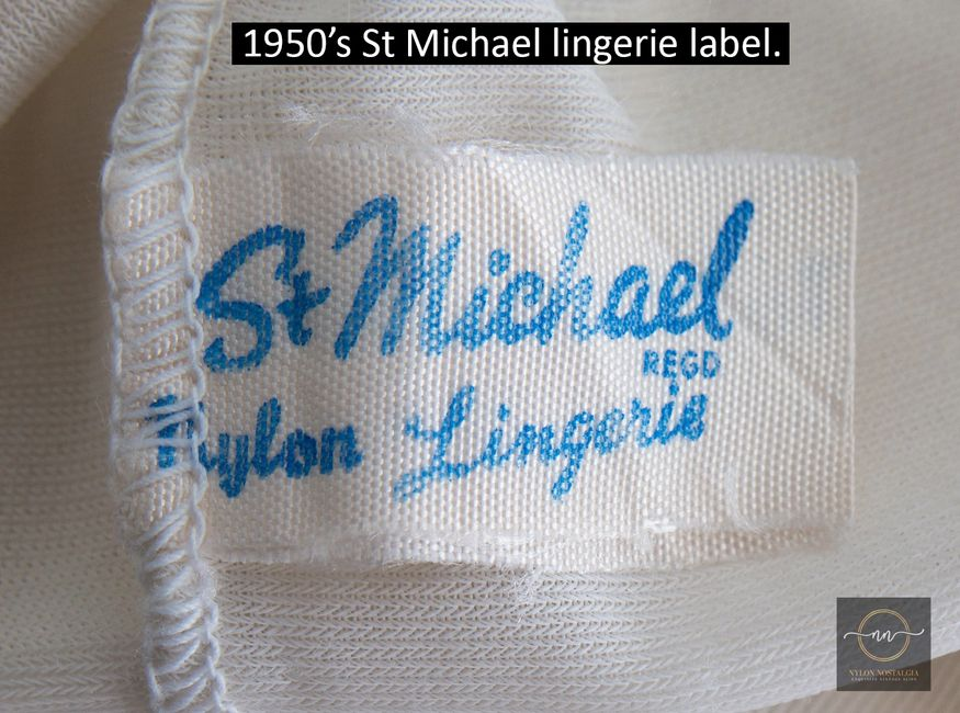 How to date vintage St Michael lingerie labels.