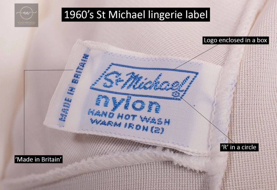Help with dating vintage St Michael clothing labels.