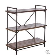 Rust Brown Three-Tiered Baker's Rack