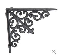 Black Scroll Metal Bracket - 4""