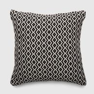 Square Woven Diamond Outdoor Pillow Black - Threshold™