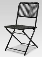 Black Folding Outdoor Chair