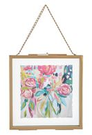 Floral Framed Wall Decor