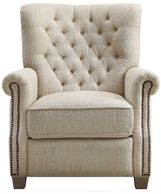 Better Homes & Garden Tufted Push Back Recliner, Beige Fabric