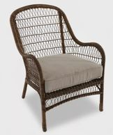 Open Weave Wicker Patio Accent Chair - Tan - Threshold™ Shop all Threshold