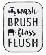 Wash Brush Floss Flush Wall Sign By Ashland®