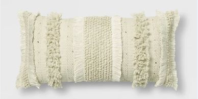 White Tufted Oversize Lumbar Pillow - Opalhouse™